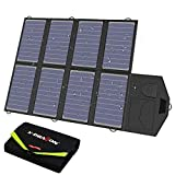 X-DRAGON Caricabatterie Solare Caricatore Pannello Solare Pieghevole da 40 W (5 V USB + 18 V CC) Sunpower Impermeabile per Laptop, Notebook, Tablet, iPad, iPhone, Auto, Batteria per Camper…