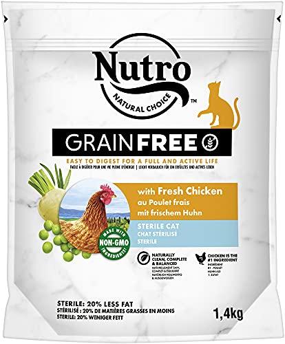 NUTRO GRAINFREE Katzenfutter Trockenfutter Sterile mit Huhn 1,4kg