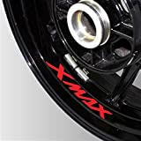 Neumático de la Motocicleta Etiqueta Reflectante Reflectante Rueda de Rueda Logo Logo DE Logo Moto Accesorios Decorativos para Yamaha Xmax 300 125 250 300 (Color : 05)