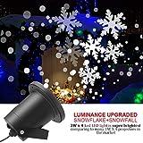 Proiettore a luce di fiocco di neve bufera di neve, Proiettore di luci di Natale a LED Proiettore...
