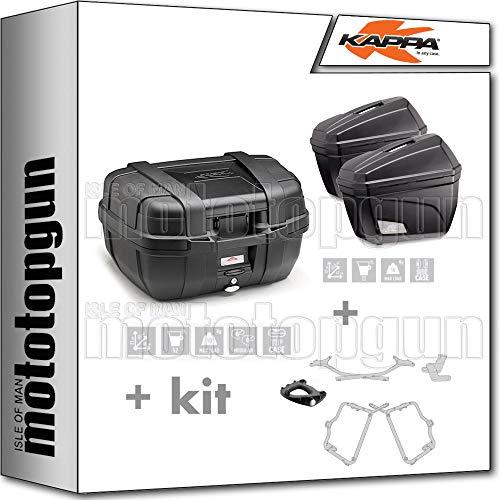 kappa maleta kgr52n + maletas laterales k22n + portaequipaje monokey + portamaletas lateral monokey compatible con honda nc 750 s 2020 20