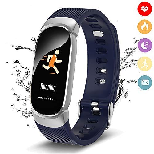 LIGE Fitness Trackers,Intelligentes Armband mit Pulsmesser, IP67 Wasserdicht Aktivitäts Tracker mit Schlafmonitor, Schrittzähler Uhr für Damen Herren Kinder,Für iOS Android