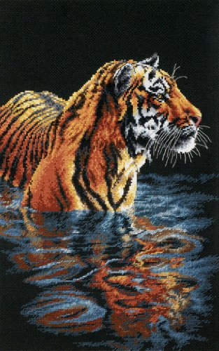 Dimensions(R) 9 Inch x14 Inch Counted Cross Stitch - Tiger Chilling Out