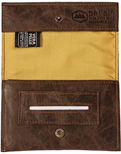 Pellein - Portatabacco in vera pelle Tobacco Sensation - Astuccio porta tabacco, porta filtri, porta cartine e porta accendino. Handmade in Italy