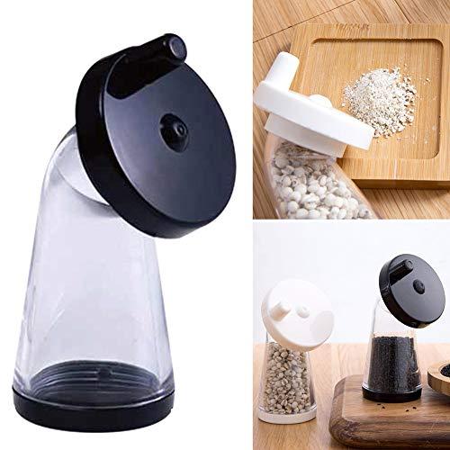 Macinino per semi di sesamo, macinino manuale regolabile, bottiglia per macinare sesamo o piccoli pellet Taglia libera Random White Or Black
