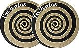 Slipmat Technics espiral oro (2unidades)...