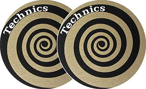 Slipmat Technics espiral oro (2unidades)