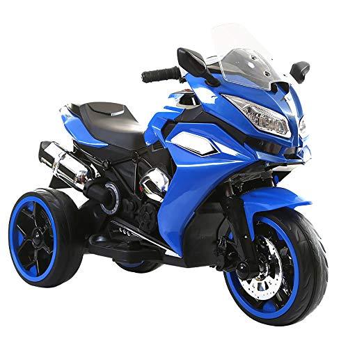 kidfun Moto Motocicletta Elettrica per Bambini 6V Blu