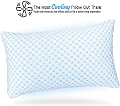 Nestl Bedding Heat and Moisture Reducing Ice Silk and Gel Infused Memory Foam Pillow - King - 1 Pack