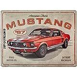 Nostalgic-Art 23298 Ford Mustang – GT 1967 Red – Idée de Cadeau pour Fans de Voitures, en métal, Design Retro pour la décoration, 30 x 40 cm
