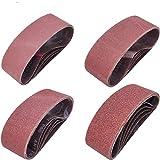 Sackorange 20 PCS 3 inch x 24 inch Abrasive Sanding Belts - 5 Each of 40 80 120 240 Grit Aluminum Oxide Sanding Belts For Belt sander (3 x 24 inch)
