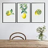 FA LEMON Gelbe Zitrone Poster bemalte Leinwand Gemälde