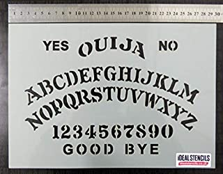 Ouija Board Stencil A4 sheet size (21x30cm) / Halloween Decorative Painting Stencil | Paint your own Ouija board or even use as body art | Flexible Plastic & Reusable