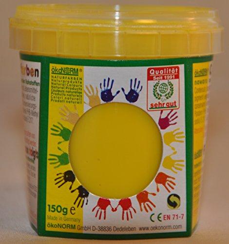 ökoNORM nawaro Fingerfarbe gelb, 150g