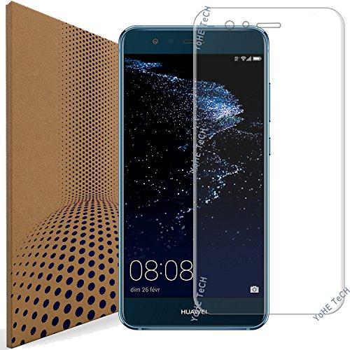 VLP Borde 3D Curvo Huawei P10 Lite Cristal Templado Protector de Pantalla, Resistente a Rayones Vidrio Cristal Templado Protector de Pantalla para Huawei P10 Lite (Transparent)