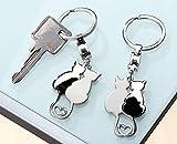 GILDE Schlüsselanhänger ' KATZENPAAR ' Keychain Schlüsselhalter Anhänger Katze 10 x 3cm