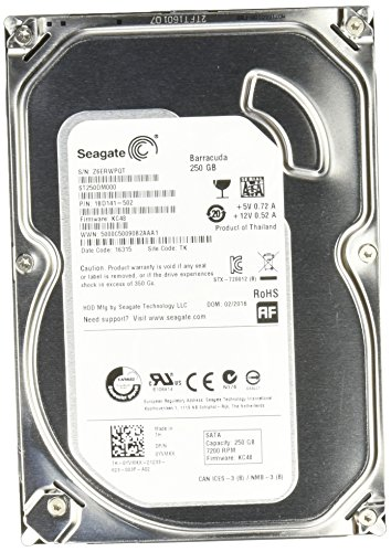 "Seagate ST250DM000 Barracuda Disque dur interne 3,5"" SATA III 7200 tours/min 250 Go"