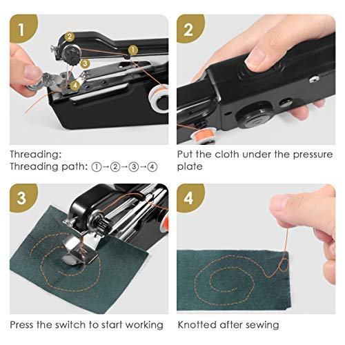 Handheld Sewing Machine, Cordless Handheld Electric Sewing Machine Quick Handy Stitch for Home or Travel use