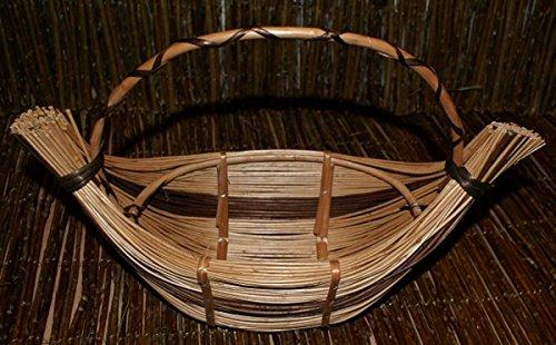 Weidenkorb Geschenkkorb Dekorationskorb Weide Behälter aus Weide verschiedene Varianten (KPR053 - mittelgroße Gopndel, mit Farbe)