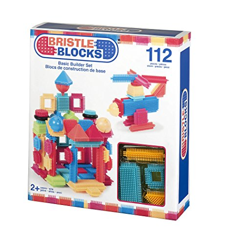 Image of Bristle Blocks by Battat The Official Bristle Blocks 112Piece Creativity Building Toys Dexterity Fine Motricity Bpa Free 2 Years +