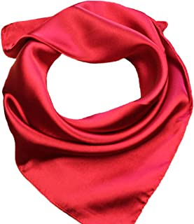 Silk Square Scarf Women's Fashion Scarves Lightweight Small Solid Color 22 In