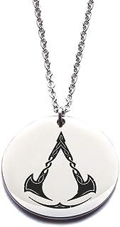 Assassin's Creed Valhalla collana in acciaio inossidabile argento o oro, gioiello regalo d'amore o amicizia, migliori amic...