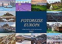 Fotoreise Europa, 12 Must-Visit-Orte von Nord- nach Suedeuropa (Tischkalender 2022 DIN A5 quer): Von Eisbergen zu Lavawuesten - Europa ist abwechslungsreich und sehr fotogen. (Monatskalender, 14 Seiten )