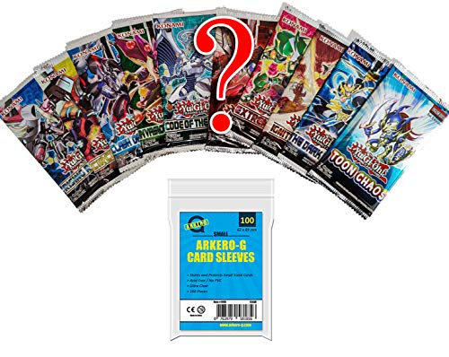 YuGiOh! Mystery Booster Set - 10 Booster Packs & Arkero-G 100 Small Soft...