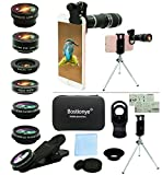 Cell Phone Camera Lens Kit,11 in 1 Universal 20x...