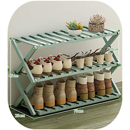 Zapatero de bambú apilable, 3 4 5 6 niveles, no requiere montaje y duradero estante de almacenamiento para zapatos, torre de zapatos, ahorro de espacio