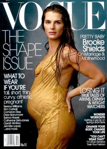 Vogue Magazine April 2003 - Pregnant Brooke Shields Cover