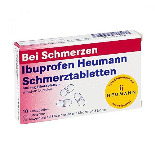 Ibuprofen Heumann Schmerztabletten 400 mg, 10 St. Filmtabletten