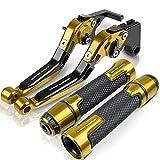 Puños de Moto para Hon&da CBR1100XX CBR 1100 XX 1997 1998 1999 2000 2001 2002 2003 2004 2005 2006 2007 Palanca de Embrague de Freno CNC Extremo de Agarre del Manillar Agarraderas para Moto