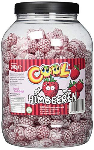 Cool Klassische Himbeerdrops   Bonbons mit Himbeergeschmack   2kg Dose