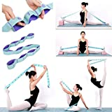 Nitpicker Stretching Straps Hamstring Stretcher Device Elastic Exercise Band Yoga mat Carrying Straps Leg Exercise Equipment Stretching Strap with Loops for Flexibility Yoga Stretch Strap 11 Loops