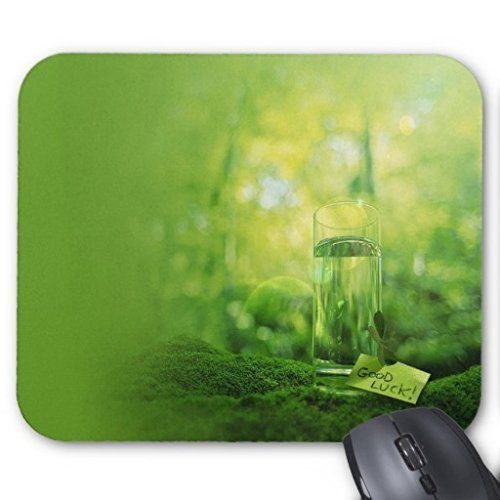 Goobull Un bicchiere d' acqua in verde foresta Office computer mouse pad laptop PC Mousepad comfort waterproof anti-slip Mousepads Mice