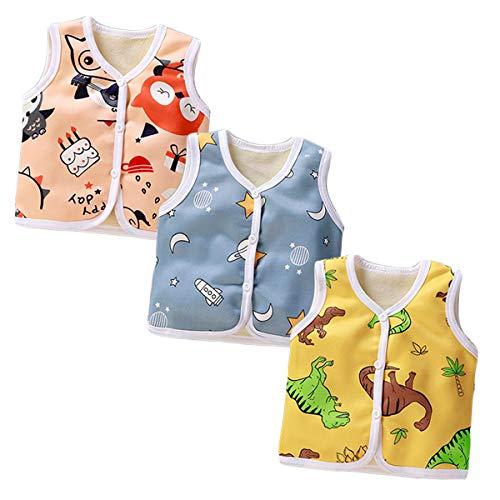 XM-Amigo Niemowlęta chłopcy zima jesień ciepłe dziecko chłopięce grube kamizelki kardigan top ramię dla chłopców gruba kamizelka kurtki gruba kamizelka (0-6 lat)