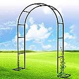 Metal Garden Arch, Black Pergola Arbor, Outdoor & Indoor Garden Or Wedding Garden Arbour Archway Trellis, for Various Climbing Plant, Bridal Party Decoration