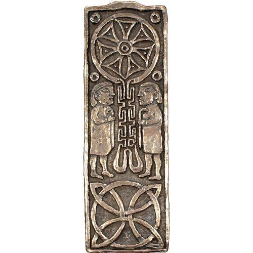 Wild Goose Studio Journey Cross Bronze Coated Resin Plaque Pre-Drilled Made in Ireland