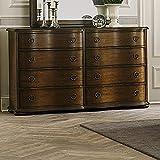 Liberty Furniture Industries Cotswold 8-Drawer Dresser, 66' x 19' x 40', cinnamon