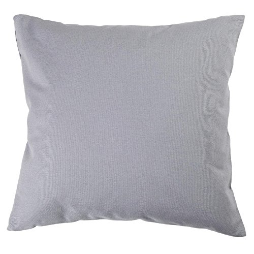 Hans-Textil-Shop Kissenbezug Uni Baumwolle - Für Wohnzimmer, Esszimmer, Schlafzimmer, Kinderzimmer, Garten und Terrasse (30 cm x 30 cm, hellgrau)