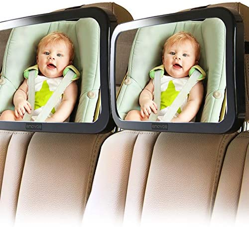 Enovoe Mirror for Baby Car Seat Rear Facing 2 Pack Wide Convex Back Seat Mirror is Shatterproof product image