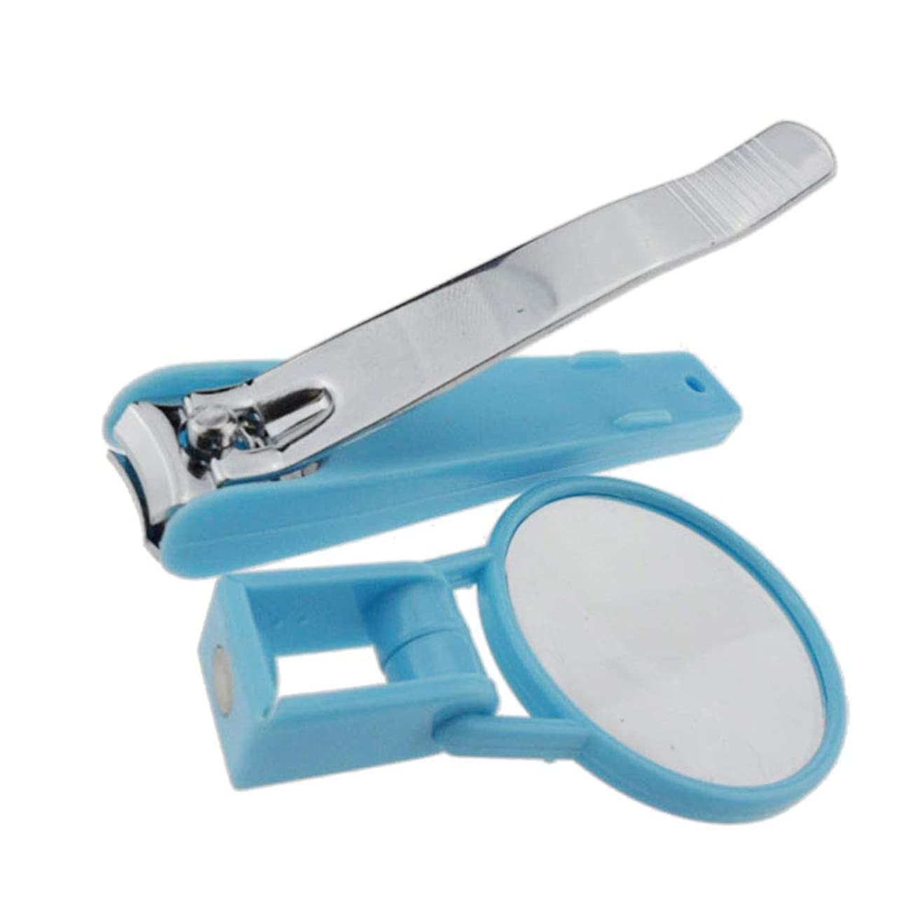 メンバーシーンデッドロックHealifty 爪切り ネイルツール スパット切れる 赤ちゃん 老人 安全なネイルケア 虫眼鏡 拡大鏡付き