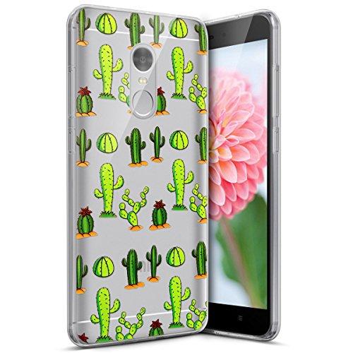 Coque Xiaomi Redmi Note 4,Etui Housse Xiaomi Redmi Note 4,Surakey Impression de Motif Transparente Souple Silicone Housse Etui Coque de Protection en TPU Bumper Case pour Xiaomi Redmi Note 4, Cactus