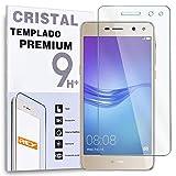 REY Protector de Pantalla para Huawei Y6 2017 - Y5 2017, Cristal Vidrio Templado Premium