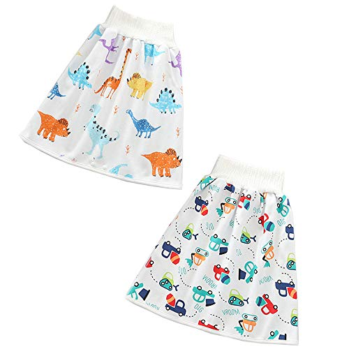 RTMD Comfy Childrens Diaper Skirt Shorts 2 in 1 Waterproof and Absorbent Shorts (boy, L(4-8Y))