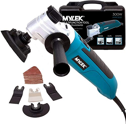 MYLEK Multi Tool 300W Oscillating Electric Multifunction Tools, Quick Blade Release - 48 Piece Accessory Kit - Carry Case