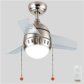 ZSSM Ventilador de Techo con lámpara Control Remoto Velocidad de 26 Pulgadas Ajustable Cuatro Estaciones Disponibles 4 Temporizador Lámpara Colgante LED,remotecontrol