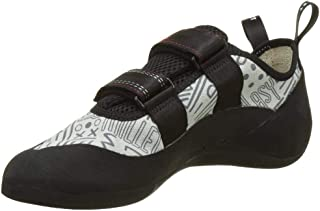 MILLET Unisex Adults' Easy Up Climbing Shoes, Multicolour (Grey/Red 000), 6.5 UK