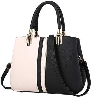 Ladies Fashion Contrast Color Large Capacity Handbag Leisure Panelled Women Shoulder Bag handbag,A,S